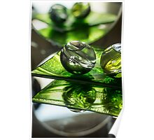 Green Bubble - Macro Photography Poster