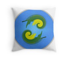 Dual Symmetry Throw Pillow