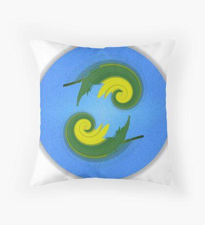 Dual Symmetry Throw Pillow