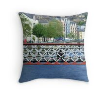 Beggar on the Bridge Throw Pillow