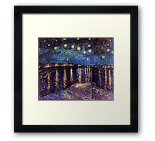 Starry Night over the Rhone, Vincent van Gogh Framed Print