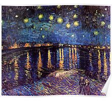 Starry Night over the Rhone, Vincent van Gogh Poster