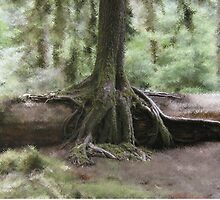 Tree From Log by Mark Powell