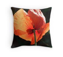 Field Poppy Throw Pillow