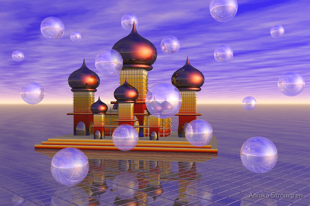 The temple of bubbles by Annika Strömgren