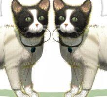 Cute Twin Cats Sticker
