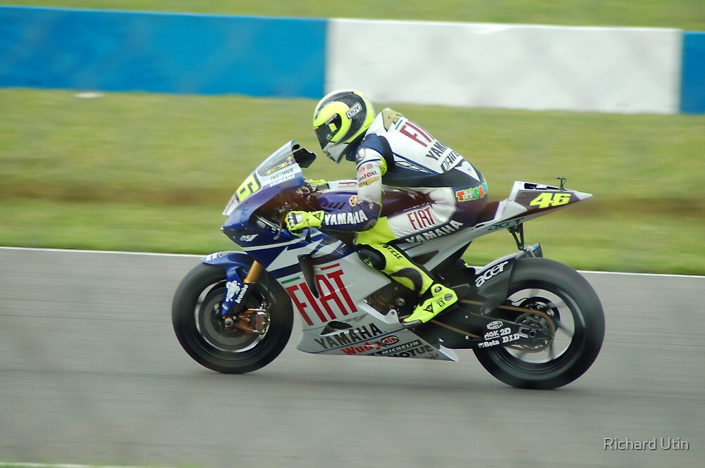 Valentino Rossi (Through the wire) 2007 by Richard Utin