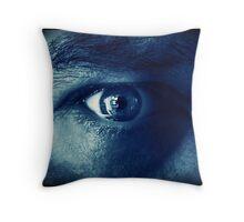 My Eye in Blue Throw Pillow