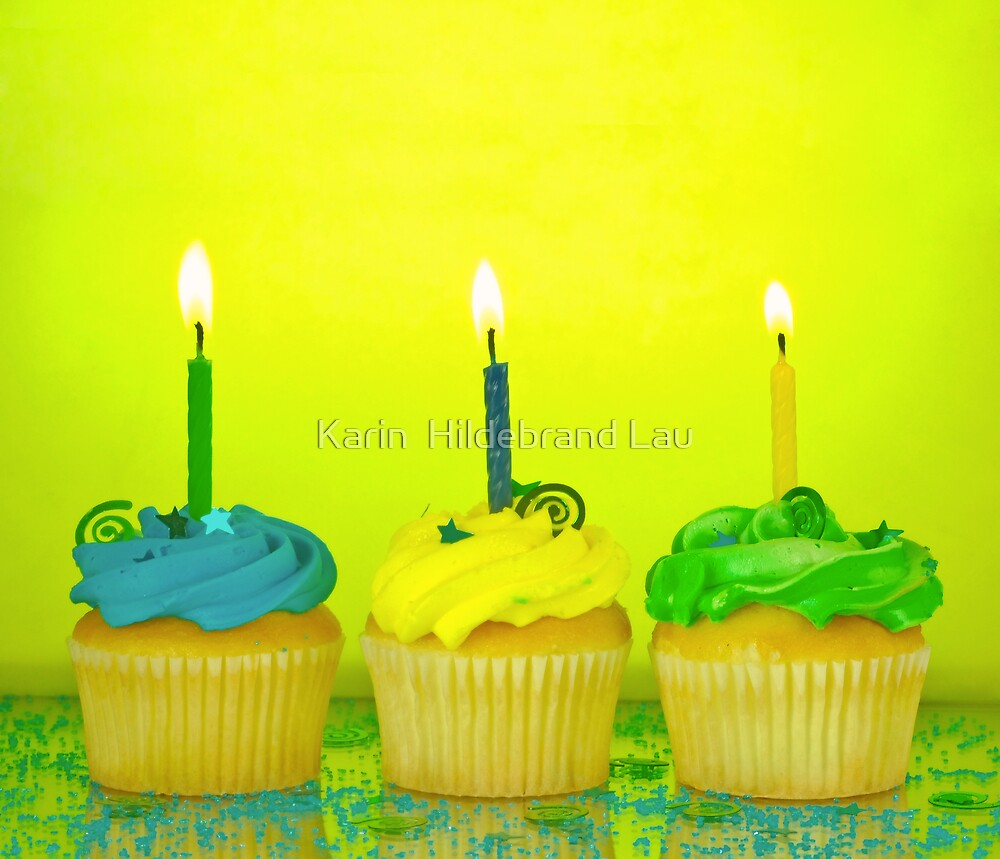 Birthday Cupcakes by Karin  Hildebrand Lau