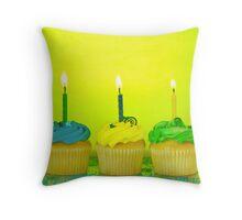Birthday Cupcakes Throw Pillow