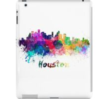 Houston skyline in watercolor iPad Case/Skin