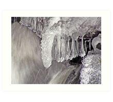 Frozen Falls ! Art Print