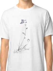 Japanese Ink Flower Blossom and Bud with Long Stalk Classic T-Shirt