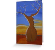 LADY BOABAB (OUTBACK AUSTRALIA) Greeting Card