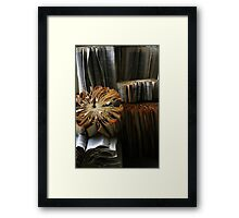 Ancient Library #1 Book Flowers Framed Print