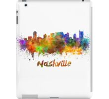 Nashville skyline in watercolor iPad Case/Skin