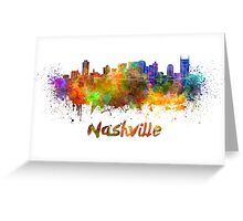 Nashville skyline in watercolor Greeting Card