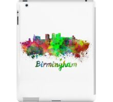 Birmingham AL skyline in watercolor iPad Case/Skin