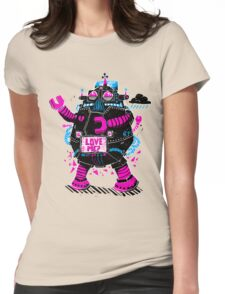 Robot Needs Love  Too Womens Fitted T-Shirt