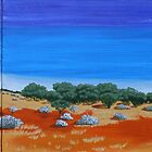 OUTBACK VISTA TRIPTYCH (AUSTRALIA) by Rose Langford