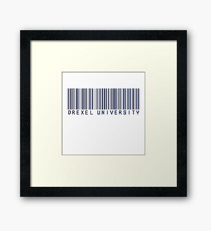 DREXEL UNIVERSITY | BARCODE Framed Print