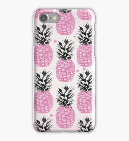 Pineapple Pattern Tropical iPhone Case/Skin