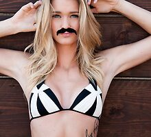 Movember Mustache Wood by Hot Fuzz by HOT FUZZ Babes In Mustache