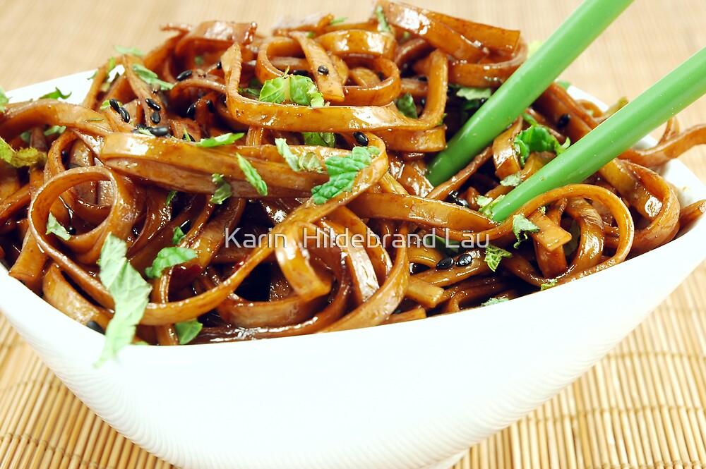 Stir Fried Udon Noodles by Karin  Hildebrand Lau