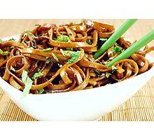 Stir Fried Udon Noodles Photographic Print