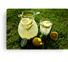 Summer Lemonade Canvas Print