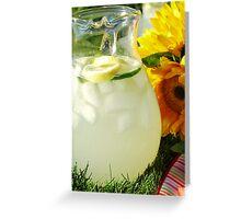 Summer Lemonade Greeting Card