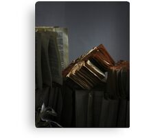 Ancient Library #2 Book Flowers Canvas Print