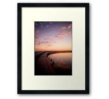 Sunrise by the Boardwalk Framed Print