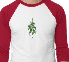 Christmas Mistletoe Men's Baseball ¾ T-Shirt