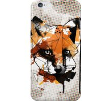 Geometric Watercolor Fox iPhone Case/Skin