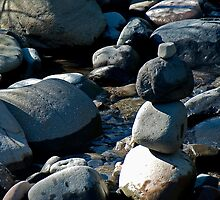 River Rocks by Maria A. Barnowl