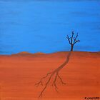 TREE SILHOUETTE (AUSTRALIAN OUTBACK) by Rose Langford