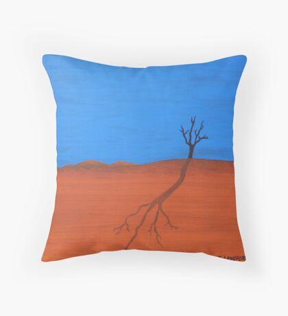 TREE SILHOUETTE (AUSTRALIAN OUTBACK) Throw Pillow