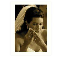 Bridal Tears Art Print