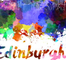 Edinburgh skyline in watercolor Sticker