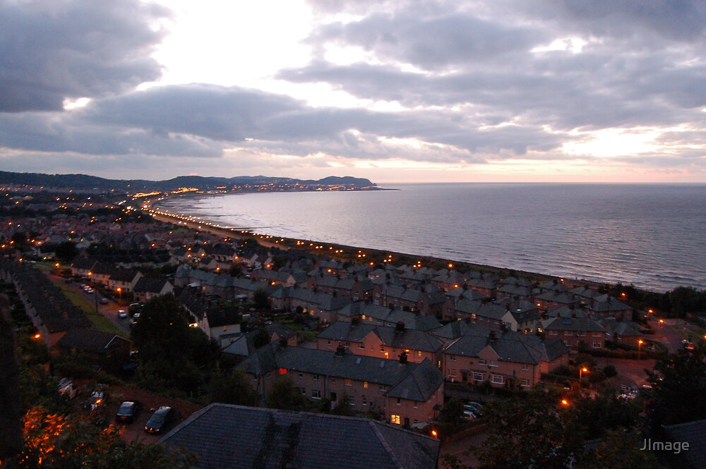 Wales, Colwyn Bay, Night Light, Sea by JImage