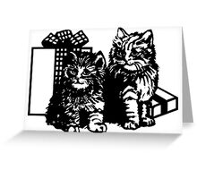 Kittens And Gifts Greeting Card
