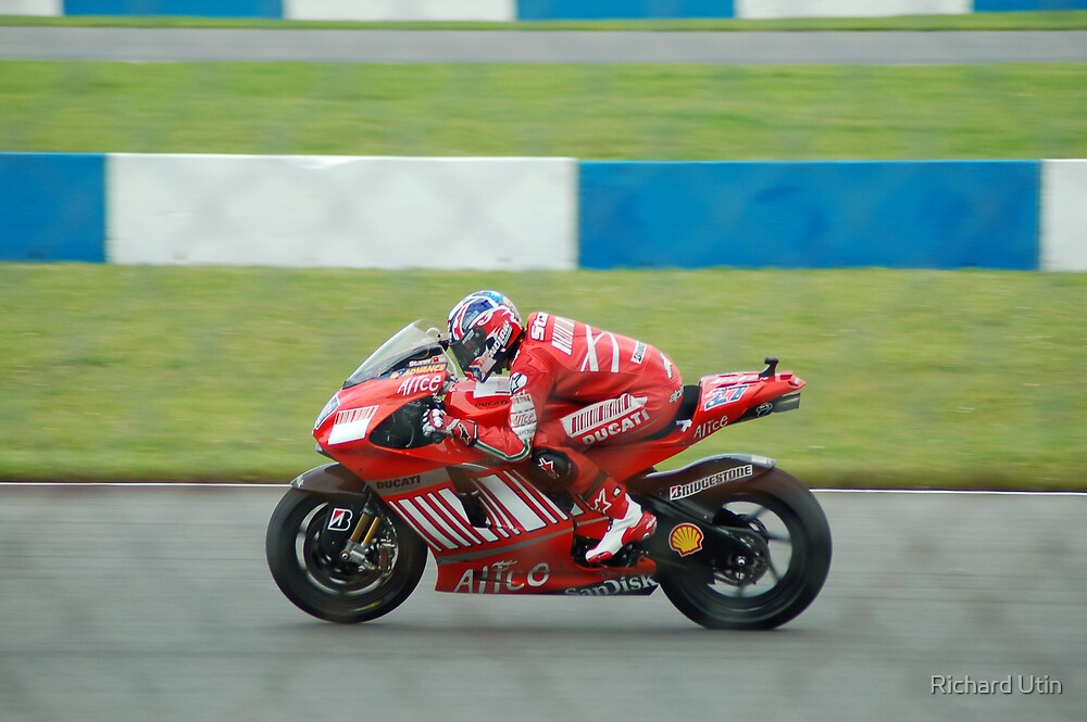Casey Stoner (Through the wire) World Champion 2007 by Richard Utin