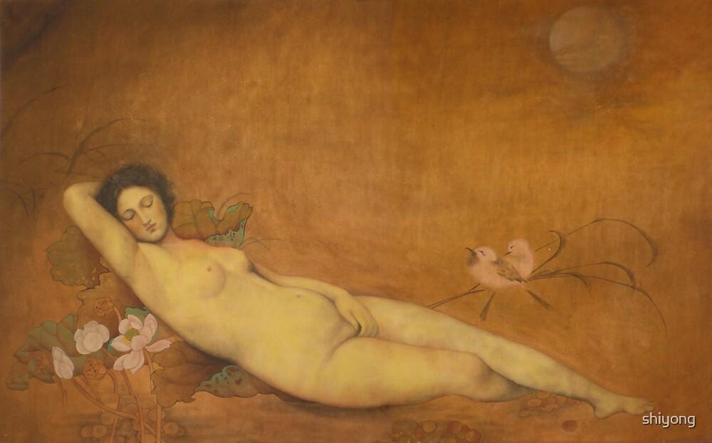 Art from China: Sleeping Venus-Original Chinese painting by shiyong