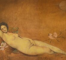 Art from China: Sleeping Venus-Original Chinese painting by shiyong