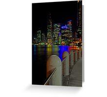 Brisbane at Night Greeting Card