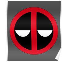 Bored Deadpool Icon  Poster