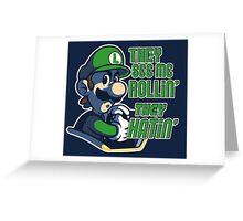 Luigi MK8 - Ridin' Dirty Greeting Card