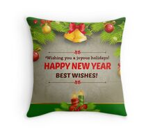HAPPY NEW YEAR, BEST WISHES Throw Pillow