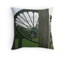 Mining Wheel Throw Pillow